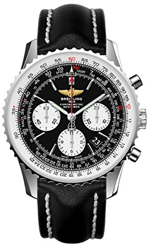Navitimer automatico cronografo quadrante nero orologio da uomo