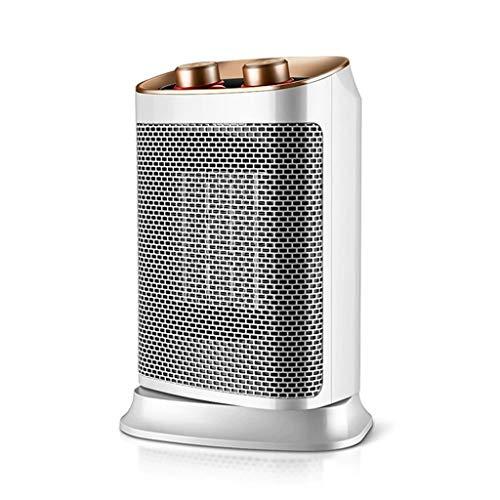 Aoyo Calefactores Nuevo Mini Calentador Eléctrico, Radiador de Cerámica Térmica Termo Cerámica Portátil Compacto, Portátil, 3 Segundos, Calefacción Rápida (Blanco, 400 W)