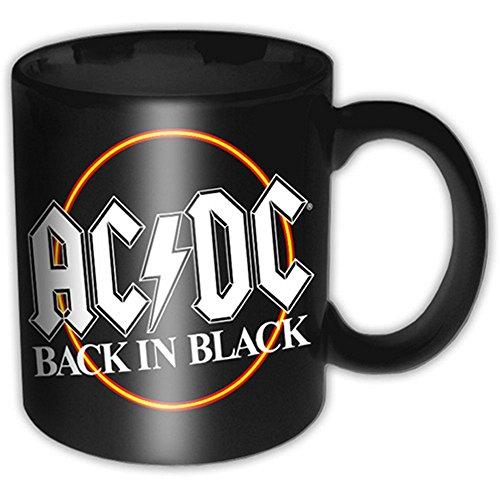 AC/DC - Keramik Tasse - Back in Black Logo - Geschenkbox