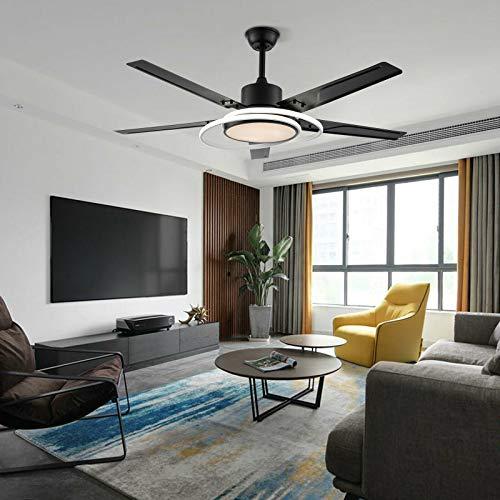 Ventilador de techo LED silencioso de 48 pulgadas para dormitorio + mando a distancia de 3 marchas