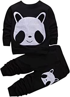 Cute Panda Clothes Set, 12 Months - 8 Years