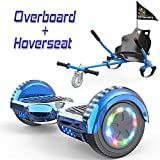 COLORWAY Overboard Hover Scooter Board Gyropode Bluetooth 6.5 Pouces, Scooter Electrique Moteur 700W, Self-Balance Board avec Roues LED Flash + Hoverkart