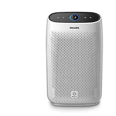 Philips AC1214/60 Series 1000ai Connected Air Purifier, Removes 99.97% of Ultrafine Particles, Real Time Air Quality Feedback, Anti-Allergen, Reduces Odours and Gases, HEPA and Active Carbon Filters