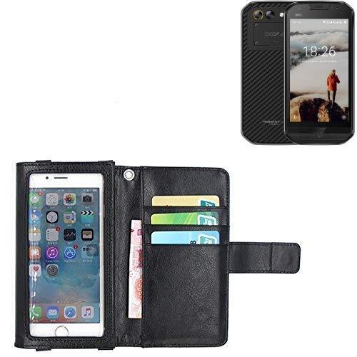 K-S-Trade® Für Doogee S30 Schutz Hülle Case Mit Bildschirmschutz/Schutzfolie Flip Cover Wallet Case Etui Hülle Für Doogee S30 Schwarz