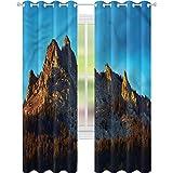 Cortina para ventana de montaña y bosque de montaña, 52 x 72, para sala de estar
