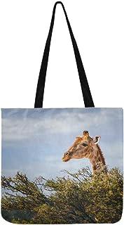 73255c521f Grandes girafes mangent des feuilles d'acacia sac fourre-tout sac à main sac