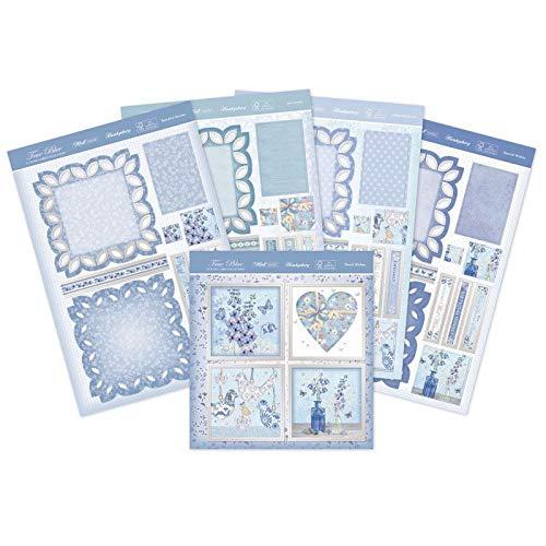 Hunkydory Crafts True Blue Fancy Edge Staffelei Karte