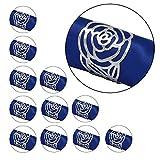 KAKOO Napkin Ring, 12 Pcs Hollow Out Rose Design Metal Napkin Holder for Wedding Party Din...