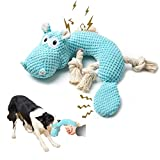 Dog Toys for Aggressive Chewers, Tough and Durable Squeaky Toys Pet Pupp Animals Toy with Cotton Material and Crinkle Paper,Chewing Teeth Health Puppy Toys for Small and Medium Breed