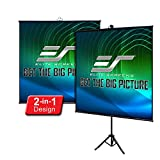 Elite Screens Tripod Lite Wall Series | 2 in 1 Portable Projector Screen Dual Tripod...