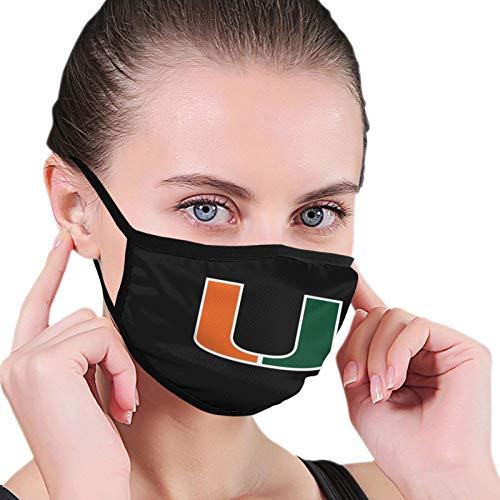 University of Miami Face Mask The Dust Reusability Breathable Face Balaclavas Black