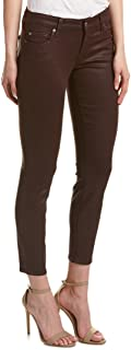 7 For All Mankind Womens The Ankle Skinny in Plum