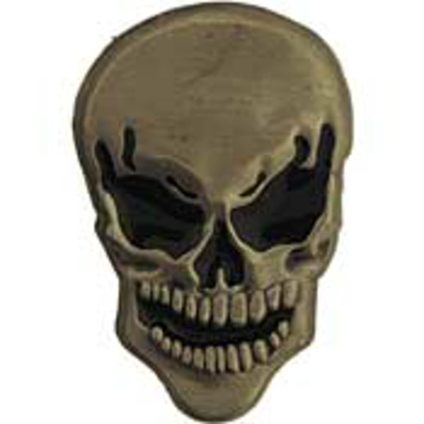 EagleEmblems P60380 Pin-Skull,Black Eyes (1'')