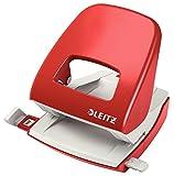 Leitz 50080025 Locher mini und Motivlocher Bürolocher NeXXt, Metall, 30 Blatt, rot