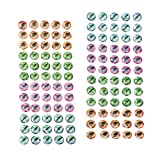 perfeclan 120x Ojos de Cebos de Pesca Ojos de Señuelos de Bricolaje Pesca Artesanal Jigs Crafts DIY