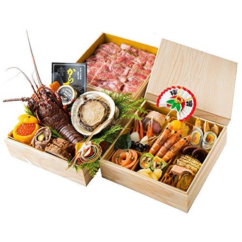 ビストロ・ル・レーヴの高級洋風レストランお節 流れ星のおせち 7寸3段重 (12月30日着 参の重フィレ肉)