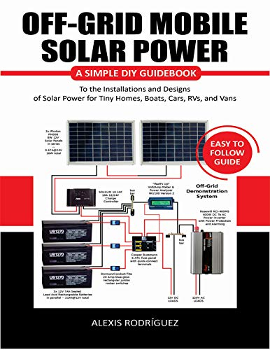 OFF-GRID MOBILE SOLAR POWER EASY TO FOLLOW GUIDE: A Simple DIY Guidebook to the Installations and Designs of Solar Power for Tiny Homes, Boats, Cars, RVs, and Vans