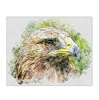 LIUYUELAI 鳥イーグル油絵写真ポスターキャンバスプリント絵画壁アートリビングルーム家の装飾-40x60cmフレームなし