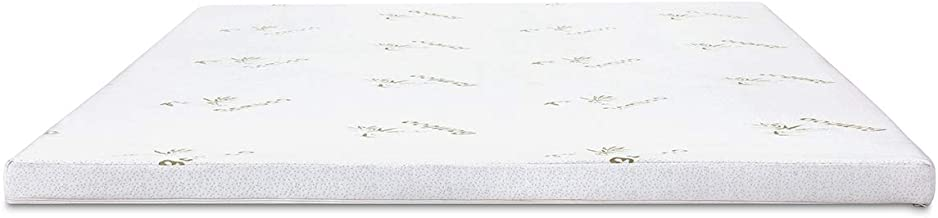 Luxdream Mattress Topper 8cm Thick High Density Cool Gel Memory Foam with Hypoallergenic Fabric Bamboo Cover - Single Size