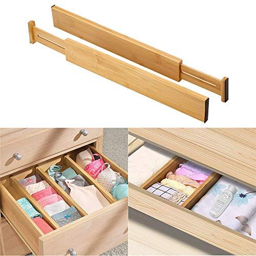 Onever Organizer van bamboe met schuifladen, scheidingselementen, splitter voor keuken, slaapkamer, badkamer, bureau, make-uptafel