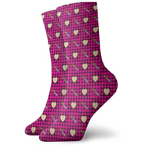 Be-ryl Kettensägen Liebe Holzschnitzerei Athletic Socken Söckchen Sport Casual Socken Baumwolle Crew Socken