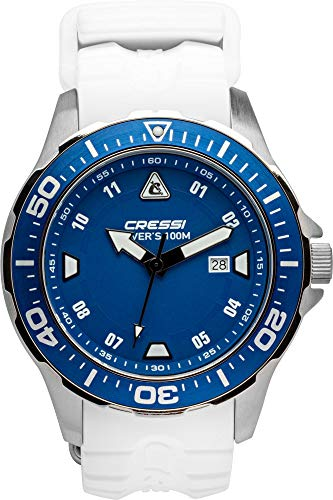 Cressi Manta Reloj Submarino, Unisex Adulto, Plata Negro, Uni