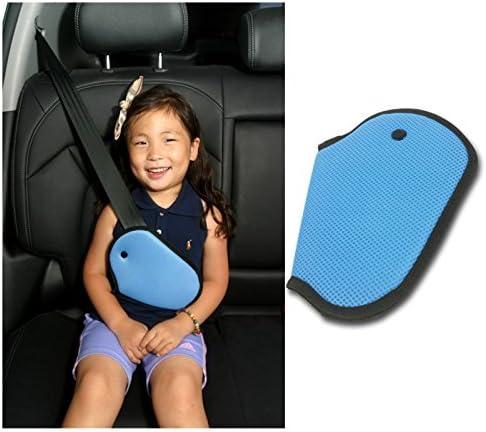 Car Child Safety Cover Strap Adjuster Mash Pad for Children Baby Adult Shoulder Neck Kids Seat Belt Seatbelt Clip(Blue)