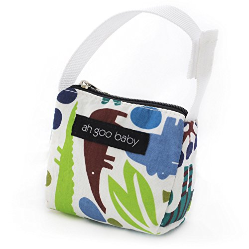 Ah Goo Baby Pacifier Holder and Tote, Zoo Frenzy Pattern
