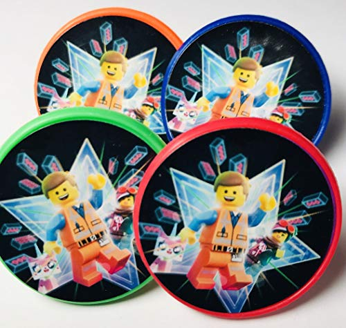Lego Movie Cupcake Toppers Rings Party Favors - Multi-color 20 pcs