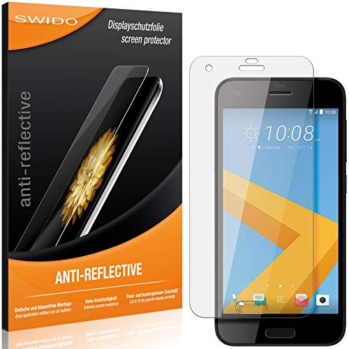 SWIDO Schutzfolie für HTC One A9s [2 Stück] Anti-Reflex MATT Entspiegelnd, Hoher Festigkeitgrad, Schutz vor Kratzer/Folie, Bildschirmschutz, Bildschirmschutzfolie, Panzerglas-Folie