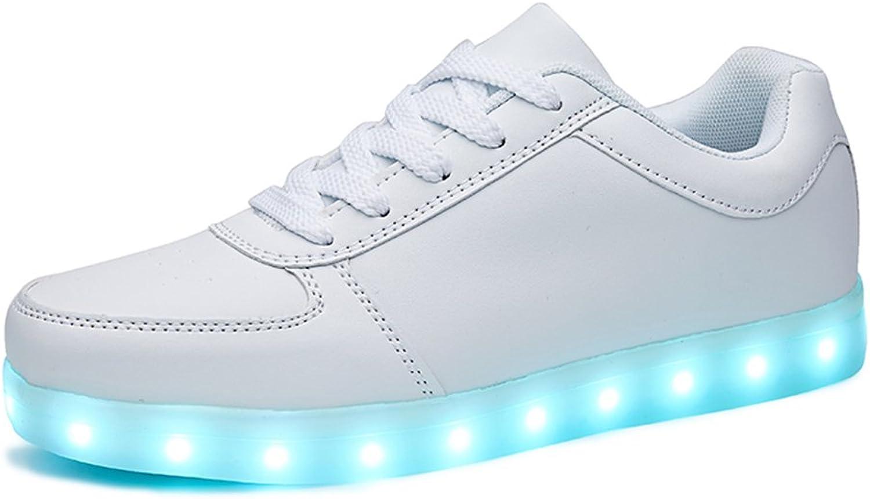 Sanyes Unisex USB Charging Light Up LED shoes Flashing Sneakers