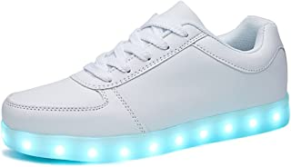 LEOVERA USB Charging LED Light Up Shoes Sports Dancing Sneakers