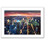 Art Wall 'New York City-The Empire State Building at Night' Unwrapped Canvas Artwork by Markus Bleichner, 20 by 28-Inch