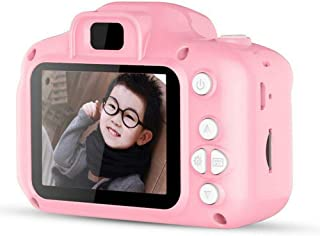 "Children Camera Digital Camera HD Mini 2.0"" 1080P Kids Gift Toy with 32G TF Card Card Reader Lanyard Data line Buggy Bag Pink"