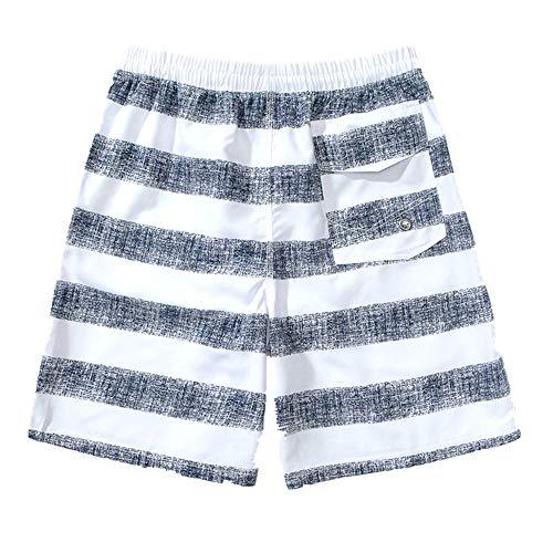 N\P Pantalones de playa de secado rápido para hombre, forro grande, bañador de vacaciones, ángulo plano