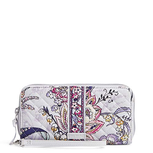 Vera Bradley Women's Signature Cotton RFID Accordion Wristlet , Hummingbird Park, One Size