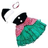 KESYOO 1 Juego Disfraz de Elfo Navideño Sombrero de Elfo Y Vestido Superior de Tubo Traje de Cosplay Navideño Vestido de Fiesta de Navidad Suministro de Fiesta de Navidad (Verde)