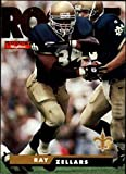 1995 SkyBox Impact Football #192 Ray Zellars RC Rookie Card New Orleans Saints Official NFL Trading Card From Fleer International. rookie card picture