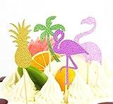 SUNBEAUTY Sommer Party Dekoration Kit Flamingo Ananas Hawaii Tropische Deko - 6