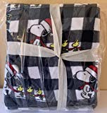 Peanuts Gang Snoopy & Woodstock Christmas Holiday Twin Cabin Plaid Throw Blanket by Berkshire Blanket | Velvet Soft Plush