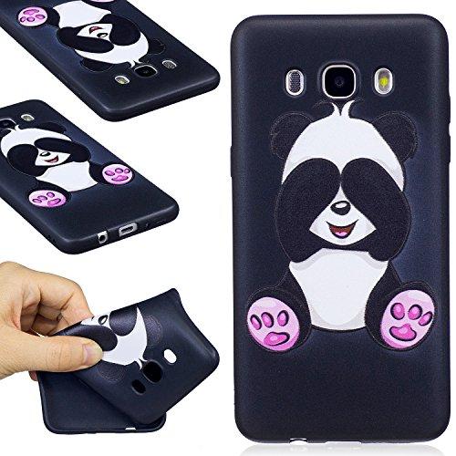 Galaxy J510 / J5 2016 Case, FIREFISH Slim Soft TPU Gel Case Shock-Absorption Scratch-Resistant Embossed Printing Cover Case for Samsung Galaxy J510 / J5 2016 -Panda-A