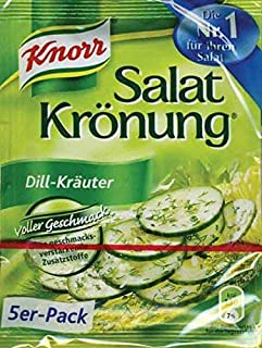 From Germany Knorr Salat Kronung Dill-Krauter Salad Herbs and Dill 5 Pack