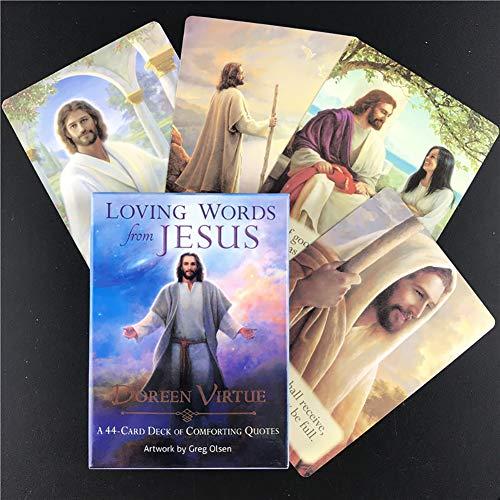 44Stücke Liebevolle Worte Von Jesus Tarot-Karten, Oracle-Spielkarte, Familienparty-Spielkarten Englische Brettspielkarten