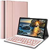 Wineecy Galaxy Tab A 8.0 2019 Keyboard Case[SM-T290,SM-T295 Backlit], Wireless Detachable Keyboard with Protective Cover for Samsung Galaxy Tab A 8.0 inch 2019, SM-T290/T295, Pink