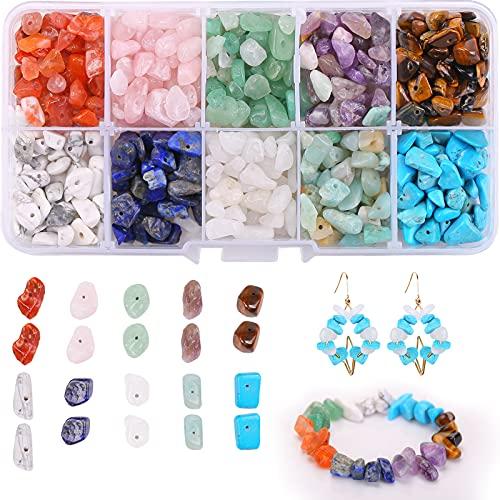 Cuentas de piedras preciosas,cuentas de piedras preciosas naturales,Piedras para bisuteria,Se utiliza para manualidades, pendientes, pulseras, collares. (10 cells)