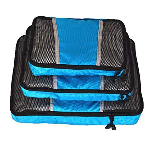 Tubayia 3 unidades de organizador para equipaje, viajes, ropa, zapatos, ropa interior, cosméticos, etc.