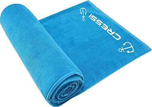 Cressi Cotton Frame Beach Towel Toalla Deportiva, Adultos Unisex, Aguamarina, 90 x 180 cm