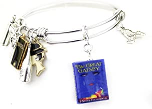 The Great Gatsby F. Scott Fitzgerald Stainless Steel Expandable Bangle Officially Licensed