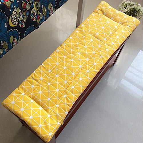 Xpnit - Cojines para banco para muebles de exterior de jardín de 2 o 3 plazas, cojín rectangular, para tumbona, salón o tatami, cojines de asiento, lavables (120 x 30 cm)