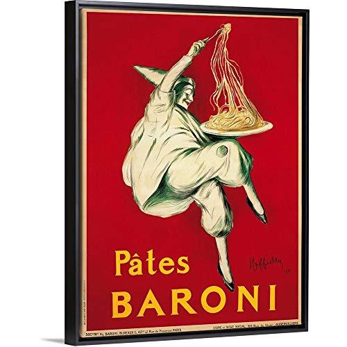 "Pates Baroni, 1921"" Black Floating Frame Canvas Art, 32""x42""x1.75"""